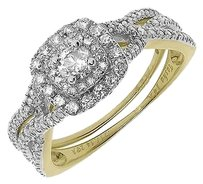 Jewelry Unlimited 14k,Yellow,Gold,Ladies,Round,Solitaire,Diamond,Engagement,Bridal,Ring,Set,34,Ct