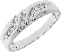 Jewelry Unlimited 10k,White,Gold,Mens,Diagonal,Round,Diamond,6mm,Wedding,Band,Ring,0.12,Ct
