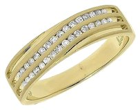 Jewelry Unlimited 10k,Yellow,Gold,Channel,Diagonal,Diamond,6mm,Satin,Wedding,Band,Ring,0.25,Ct