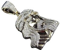 Jewelry Unlimited 10k,Yellow,Gold,Genuine,Diamond,3d,Clothed,Jesus,Piece,Pendant,0.85ct,1.25