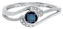 Jewelry Unlimited 10k,White,Gold,Ladies,Blue,Solitaire,Diamond,Engagement,Wedding,Ring,0.15,Ct