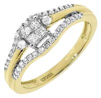 Jewelry Unlimited 10k,Yellow,Gold,Ladies,Princess,Round,Diamond,Engagement,Wedding,Ring,0.50,Ct