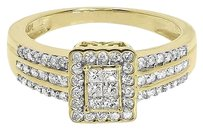 Jewelry Unlimited 10k,Yellow,Gold,Ladies,Round,Princess,Diamond,Engagement,Wedding,Ring,0.57,Ct