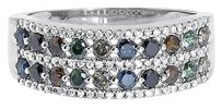 Jewelry Unlimited 14k,White,Gold,Ladies,Multi,Color,Fancy,Diamond,7mm,Fashion,Band,Ring,1.14,Ct