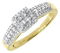 Jewelry Unlimited 10k,Yellow,Gold,Ladies,Round,Princess,Diamond,Engagement,Wedding,Ring,0.40,Ct