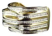 Jewelry Unlimited 0k,Yellow,Gold,Layer,Style,Pave,Set,Genuine,White,Diamond,Pinky,Ring,1.0ct