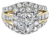Jewelry Unlimited 10k,Yellow,Gold,Ladies,Xl,Princess,Diamond,Bridal,Wedding,Engagement,Ring,3ct