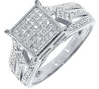 Jewelry Unlimited White,Gold,Finish,Ladies,Round,Pave,Diamond,Engagement,Wedding,Ring,0.66,Ct
