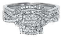 Jewelry Unlimited 10k,White,Gold,Ladies,Round,Diamond,Twisted,Bridal,Engagement,Ring,Set,0.40,Ct