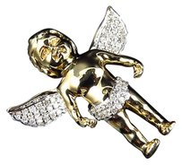 Jewelry Unlimited 10.2,Grams,Yellow,Gold,Genuine,Diamond,Angel,Mini,1.25,Pendant,Charm,0.40,Ct