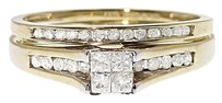 Jewelry Unlimited 10k,Yellow,Gold,Ladies,Princess,Diamond,Engagement,Wedding,Bridal,Ring,Set,.47ct