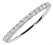 Jewelry Unlimited 14k,White,Gold,Ladies,Diamond,Shared,Prong,Wedding,Anniversary,Band,Ring,13,Ct