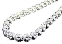 Jewelry Unlimited Mens,Prong,Set,1,Row,Genuine,7,Mm,Diamond,Chain,Necklace,In,10k,White,Gold,9,Ct