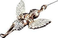 Jewelry Unlimited Mens,Ladies,Icy,Rose,Gold,Finish,Genuine,Diamond,3d,Angel,Pendant,Charm,.50,Ct