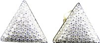 Jewelry Unlimited Mens,Ladies,10k,Yellow,Gold,12,Mm,Diamond,Pave,Triangle,Stud,Earrings,0.60,Ct