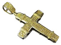 Jewelry Unlimited Other Yellow Gold Other Canary Other Block Other Cross Pendant 1.5 0.50ct