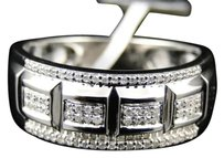 Jewelry Unlimited 10k,White,Gold,Genuine,Diamond,Pave,Wedding,Engagement,Band,Ring,.33,Ct