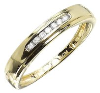 Jewelry Unlimited 10k,Yellow,Gold,Mens,Round,Diamond,4mm,Wedding,Engagement,Band,Ring,115ct