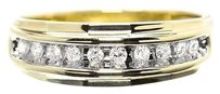 Jewelry Unlimited 10k,Yellow,Gold,Mens,Round,Diamond,8mm,Wedding,Band,Ring,0.25ct