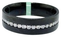 Jewelry Unlimited Mens,6,Mm,Black,Rhodium,Over,18k,Gold,Genuine,Diamond,Wedding,Band,Ring,12,Ct
