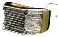 Jewelry Unlimited Mens,Yellow,Gold,Finish,Black,White,Diamond,Engagement,Designer,Band,Pinky,Ring