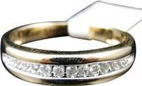 Jewelry Unlimited Mens,14k,Yellow,Gold,Genuine,Diamond,Wedding,Engagement,Band,Ring,.25,Ct