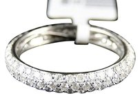 Jewelry Unlimited 14k,Womens,White,Gold,Diamond,Wedding,Band,Pave,Eternity,Designer,Ring,1.27,Ct