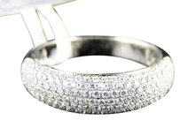 Jewelry Unlimited 14k,White,Gold,Round,Cut,Diamond,Pave,5.5,Mm,Dome,Wedding,Ring,Band,34ct