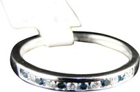 Jewelry Unlimited ,Ladies,10k,White,Gold,Bluewhite,Diamond,Fashion,Engagement,Ring,Band,2,Mm