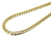 Jewelry Unlimited Mens,10k,Yellow,Gold,Semi,Hallow,9,Mm,Miami,Cuban,Link,Franco,Necklace,Chain
