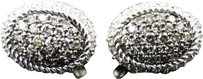 Jewelry Unlimited 10k,Ladies,White,Gold,Brown,Cognac,Diamond,Round,Dome,3d,Studs,Earrings,1.19,Ct