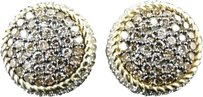 Jewelry Unlimited 10k,Ladies,Yellow,Gold,Brown,Cognac,Diamond,Round,3d,Studs,Earrings,1.30,Ct