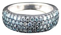 Jewelry Unlimited Ladies,White,Gold,Finish,Round,Cut,Blue,Diamond,Engagement,Ring,1.15,Ct