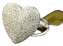 Jewelry Unlimited 10k,White,Gold,Ladies,Womens,18,Mm,Diamond,Engagement,Heart,Ring