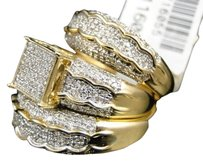 Jewelry Unlimited Mens,Ladies,Yellow,Gold,Diamond,Engagement,Bridal,Wedding,Ring,Trio,Set,1.47,Ct
