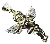 Jewelry Unlimited Rare,10k,Yellow,Gold,Genuine,Diamond,Home,Hearth,Angel,Pendant,.25ct,1.25