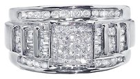 Jewelry Unlimited White,Gold,Ladies,Princess,Round,Baguette,Diamond,Engagement,Wedding,Ring,1ct