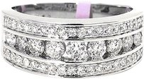 Jewelry Unlimited Ladies,Channel,Set,Round,Diamond,8,Mm,Wedding,Band,Ring,In,14k,White,Gold,1.0,Ct