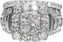 Other 14k,Ladies,Princess,Cut,Diamond,Wedding,Engagement,Bridal,Ring,Set,3.0,Ct