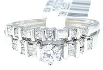 Jewelry Unlimited 14k,White,Gold,Round,Cut,Engagement,Bridal,Solitaire,Band,Diamond,Ring,Set,0.50