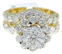 Jewelry Unlimited 14k,Yellow,Gold,Round,Cut,Engagement,Bridal,Solitaire,Diamond,Ring,Set,3.25,Ct