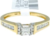 Jewelry Unlimited 14k,Yellow,Gold,Princess,Cut,Engagement,Bridal,Solitaire,Band,Diamond,Ring,0.38