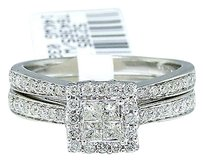 Jewelry Unlimited 14k,White,Gold,Princess,Cut,Engagement,Bridal,Wedding,Diamond,Ring,Set,0.50,Ct