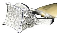 Jewelry Unlimited 10k,White,Gold,Round,Cut,Pave,Diamond,Kite,Engagement,Fashion,Ring,.70,Ct