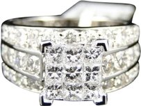 Jewelry Unlimited Ladies,14k,White,Gold,Princess,Cut,Xl,Diamond,Engagement,Wedding,Bridal,Ring,3ct