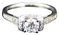 Jewelry Unlimited Ladies,14k,White,Gold,Round,Cut,Solitaire,Diamond,Engagement,Wedding,Bridal,Ring