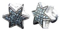 Jewelry Unlimited 10mm,Star,Shaped,Blue,Diamond,Stud,Earrings,In,White,Gold,Finish,0.25,Ct