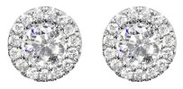 Jewelry Unlimited 14k,White,Gold,Mens,Ladies,Round,Diamond,Solitaire,7mm,Studs,Earrings,0.75,Ct