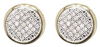Jewelry Unlimited 10k,Yellow,Gold,Mens,Ladies,Round,Diamond,Pave,9mm,Bezel,Studs,Earrings,13,Ct