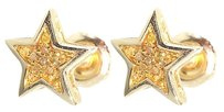 Jewelry Unlimited 10k,Yellow,Gold,Mens,Ladies,7mm,Canary,Yellow,Diamond,Star,Stud,Earrings,120ct